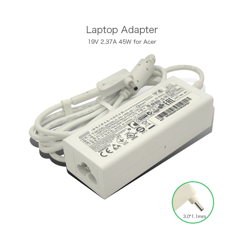 19V 2.37A 45W 3.0*1.1mm PA-1450-26 Laptop AC Adapter Charger for Acer Chromebook 11 CB3-111 13 CB5-311 Power Supply keyboard for acer chromebook 13 cb5 311p t9ab korean kr 9z nbrsq 00k nsk rb14sq 0knk i1117 03n aezhqy00010 black without frame