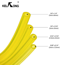 KELKONG 1 M Motorcycle Bike Fuel Diameter Inner Dia 3mm*5mm 3mm*6mm Yellow Pipe Filter Line Oil Tank Spare Parts
