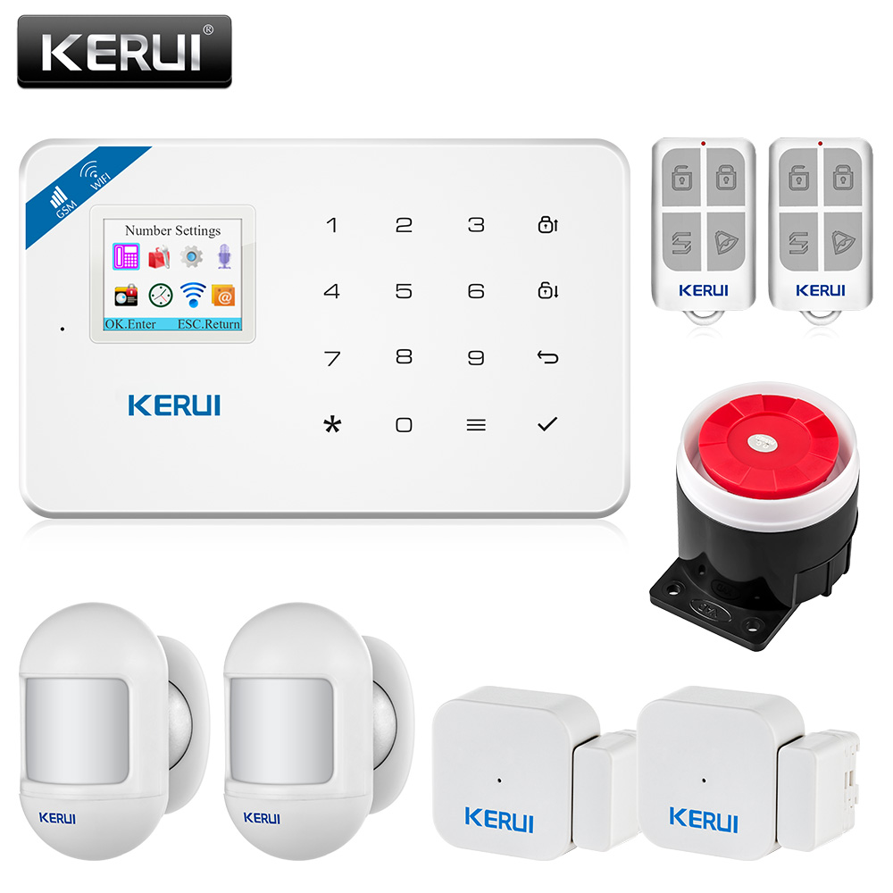 KERUI W18 433MHz  wireless WiFi GSM alarm system home security alarm system high security performanceKERUI W18 433MHz  wireless WiFi GSM alarm system home security alarm system high security performance