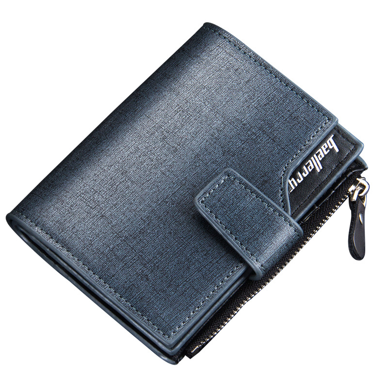 2016 New Beallerry men wallets Casual wallet men purse Clutch bag Brand pu leather wallet short design men bag gift for men