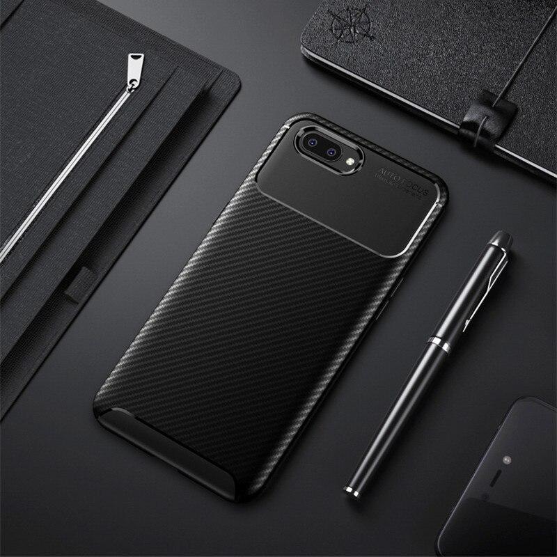 Carbon Fiber Case For Realme C1 Case 6.2 inch High Quality Diamond Grid Design Cover For OPPO Realme C1 3 2 Pro U1 Back Cover