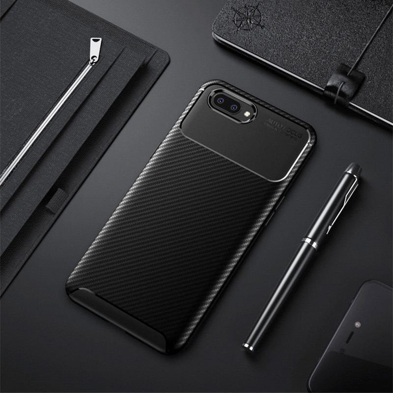 size 40 6275d b2e42 Carbon Fiber Case For Realme C1 Case 6.2 Inch High Quality Diamond Grid  Design Cover For OPPO Realme C1 Back Cover