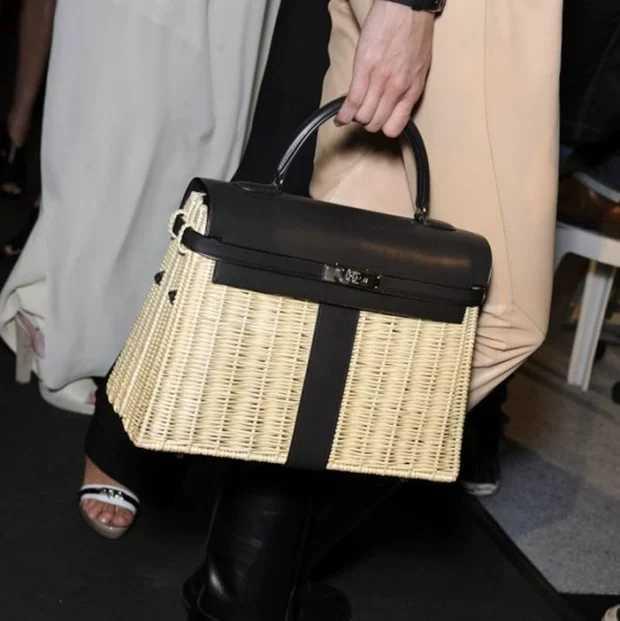 2019 nouveauté en cuir véritable rotin sac en cuir de haute qualité haute capacité été blanc serrure dame sacs Assurance de la qualité