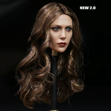 1/6 Elizabeth Female Olsen Scarlet Witch Head sculpt 3.0 Head Carving Beauty Head Sculpt For 12