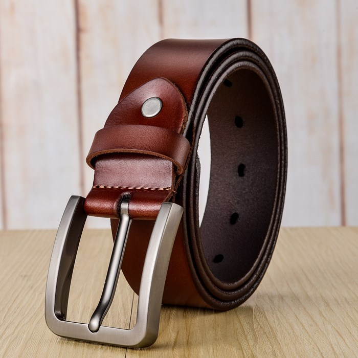 New Arrival Italian Leather Belt Men High Quality Jeans Belt Brand Vintage Strap for Men Black Coffee Color Casual Waistband han