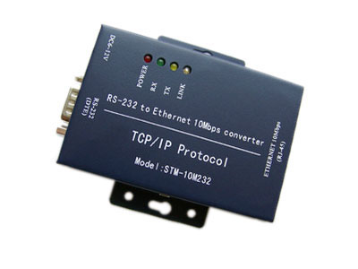 TCP / IP protocol RS232 to Ethernet converter | code switch 10M-100M | Serial Server