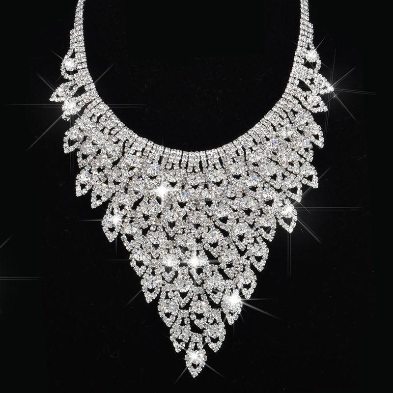 Flocon d'argent en alliage de zinc avec pendentif bijoux ensembles pour femmes indien mariée bijoux ensembles colliers pendentifs cadeau pour halloween # N142