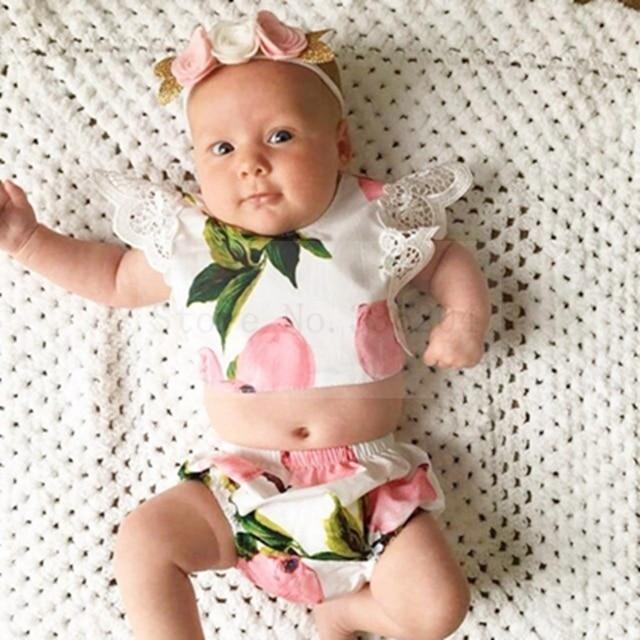 New chegou meninas conjuntos de roupas floral rosa infantil roupa dos miúdos meninas bonito da criança boutique t camisas + bloomer