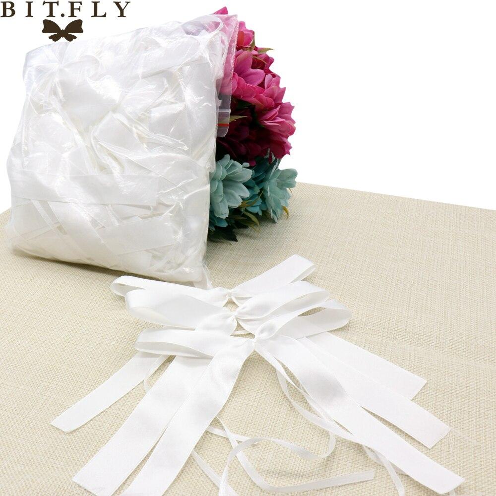 New 50pcs Wedding Bowknots Ribbon Bow Bowknot Car Door Handles and ...