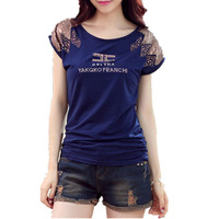 New Girls Tshirts 2017 Woman Summer Clothing Cotton Short Sleeved Print T Shirt Fashion Women