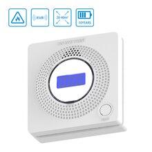 Датчик угарного газа ЖК-датчик оксида углерода детектор угарного газа датик угарного газа 85дб сирена звук независимый сигнал тревоги детектор домашней безопасности