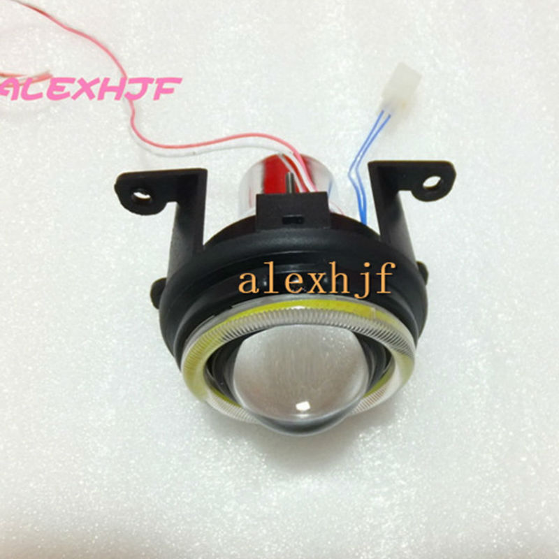July King Bifocal Lens Fog Lamp COB Angel Eye Rings DRL Case for Renault Koleos Clio Kangoo Laguna Logan Sandero Megane Fluence no blade 2 button remote key shell case for renault megane modus espace laguna duster logan dacia sandero fluence clio kangoo