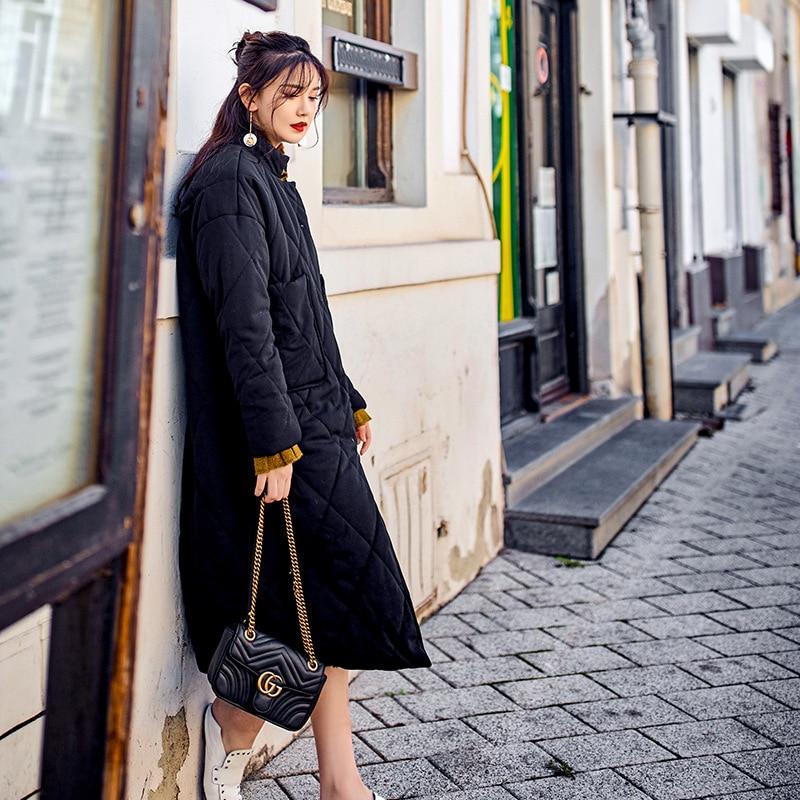 Coton En The La Chaud Picture Rue À Grande Nouvelles Mode Veste Long 2019 Femmes Solide Lâche Taille D'hiver As Manteau Épaississent Parka Cw129 Pq7Z1