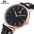 Jinen clásica de ocio de moda reloj de cuarzo mujeres de las señoras nuevo relogio feminino relojes de negocios con el bolso impermeable de alta calidad