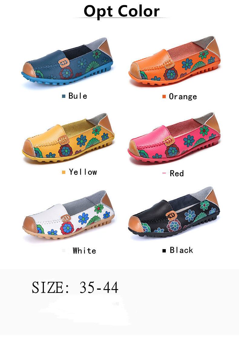 STS BRAND New Spring Women Genuine Leather Ballet Flats Casual Shoes Women Round Toe Slip On Flats Female Loafers Ballerina shoe (8)