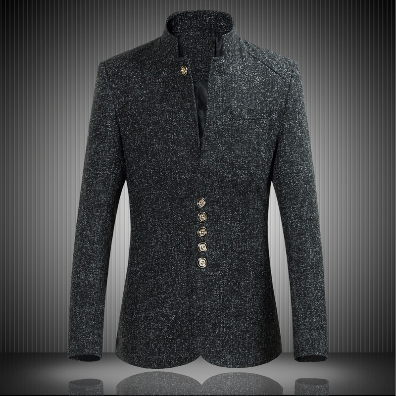 2018 Spring Men's Casual Long Sleeve Suit Jacket ,High quality single breasted collar suit men's clothing ,Chinese style Blazers