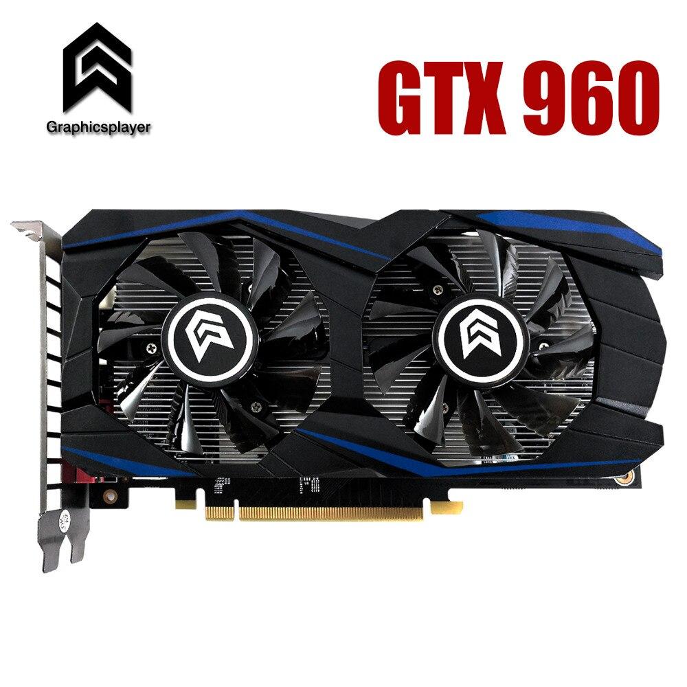 Graphic Card PCI-E GTX960 GPU 4G DDR5 for nVIDIA Geforce Game Computer PC thumbnail