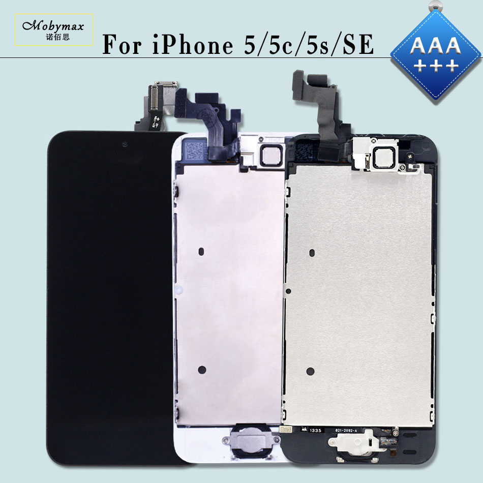 AAA+++ LCD Screen for iPhone 5 5S 5C SE Replacemement Pantalla Touch Digitizer Full Assembly Display+Home Button+Front Camera