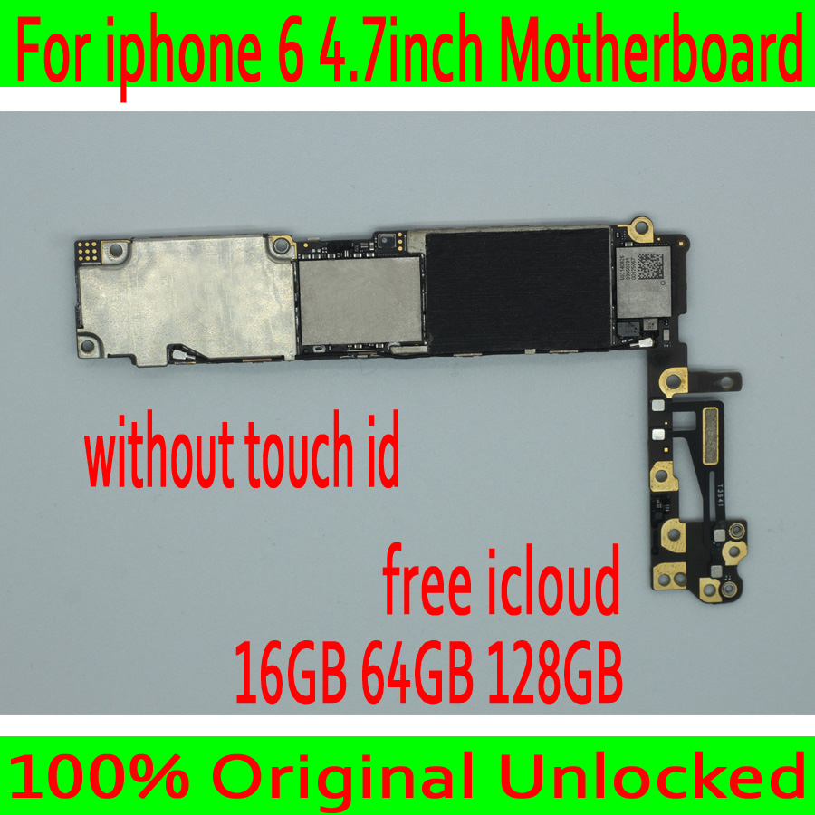 Clean iCloud for iphone 6 4.7 inch Motherboard without Touch ID,100% Original unlocked for iphone 6 Mainboard with IOS System-in Mobile Phone Antenna from Cellphones & Telecommunications    1