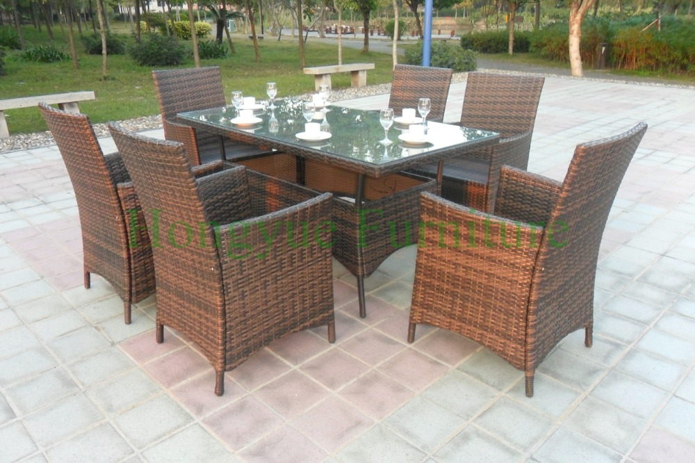 Patio dining set in rattan materials,garden dining set solutions