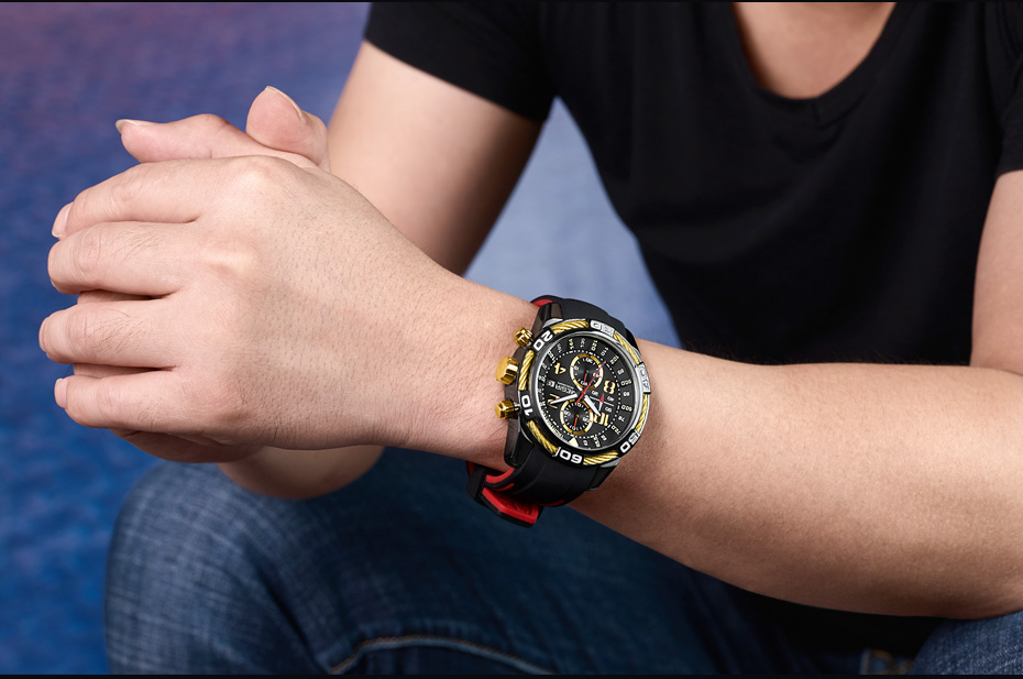 Topdudes.com - MEGIR Creative Silicone Band Army Style Chronograph Sports Watch