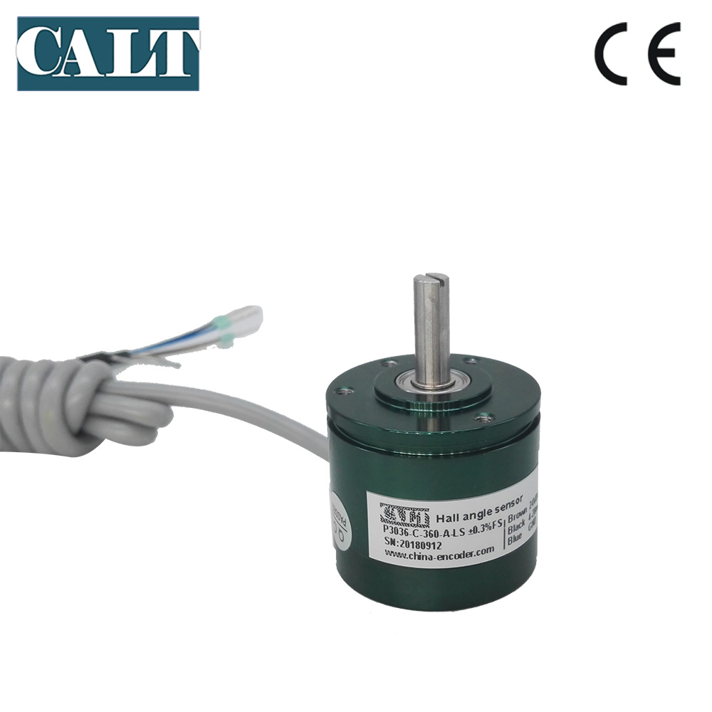Non-contact Absolute Hall Effect Angle Sensor Magnetic Rotary Encoder Potentiometer 4-20mA 0-10v Analog out DC 24 V 12 Bit P3036Non-contact Absolute Hall Effect Angle Sensor Magnetic Rotary Encoder Potentiometer 4-20mA 0-10v Analog out DC 24 V 12 Bit P3036
