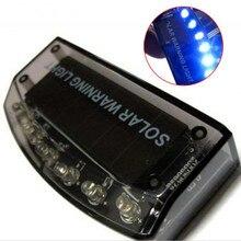 Солнечное автомобильное зарядное устройство 6 светодиодный датчик охранной сигнализации светодиодный светильник Предупреждение кражи вспышка мигает красный синий цвет для любого автомобиля
