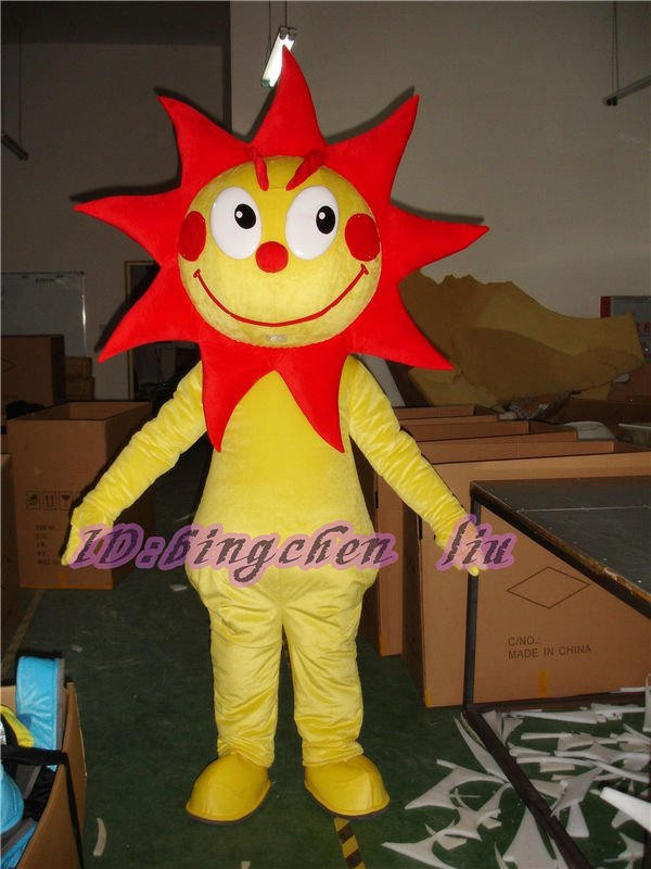 yellow sun Halloween Cartoon Character Costume cosplay mascot Custom Products custom made(s.m.l.xl.xxl) free shipping2019New