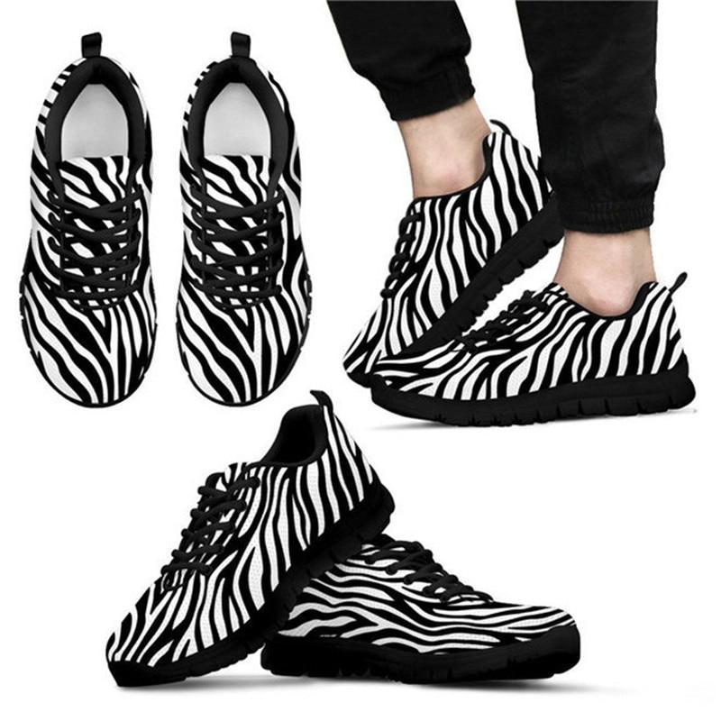 HYCOOL Zebra Print Men Sport Shoes