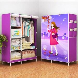 Image 3 - Actionclub armario de tela no tejida, armario de tela plegable, gran estante de almacenamiento, muebles de dormitorio