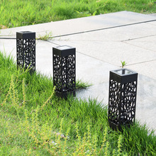 LED Outdoor Waterproof Solar Light Hollow Garden Lawn Light Controlled Induction Solar Decorative Lamp
