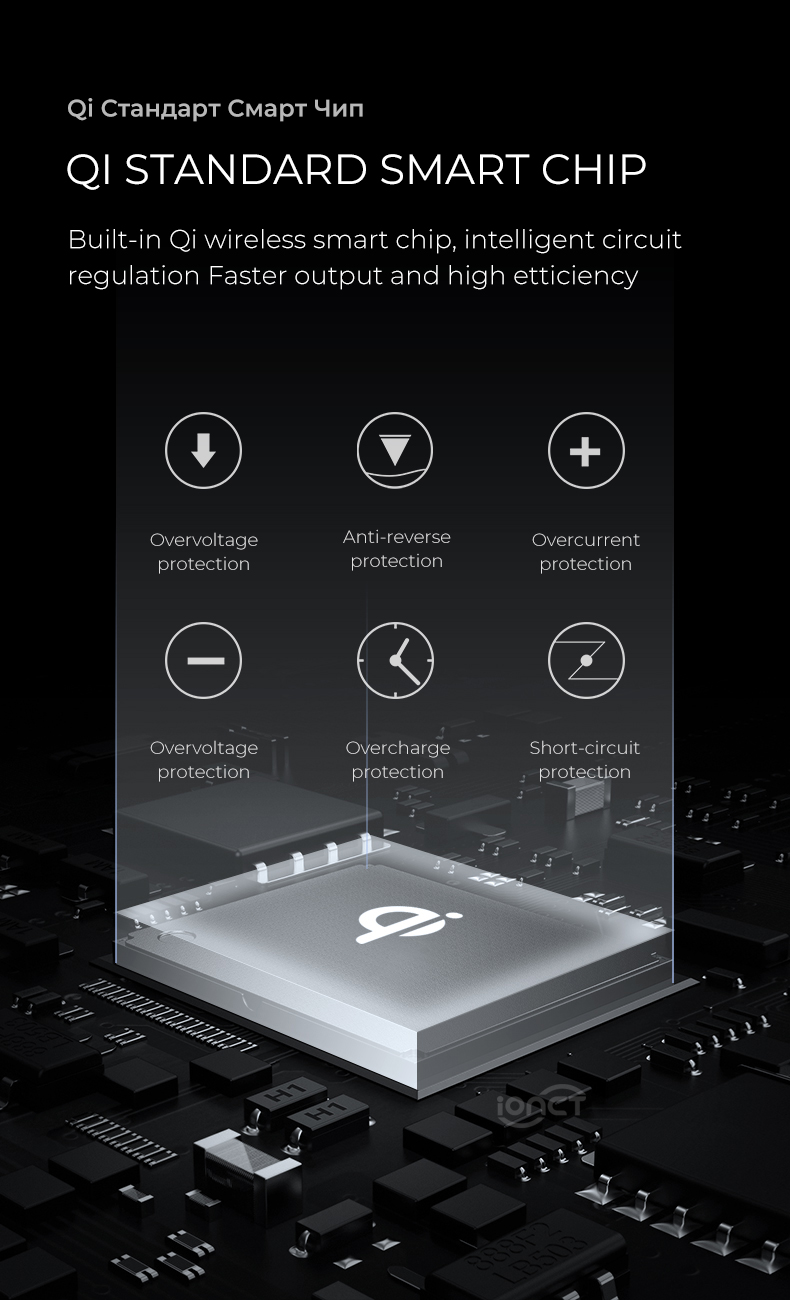 IONCT cargador inalámbrico Qi 10
