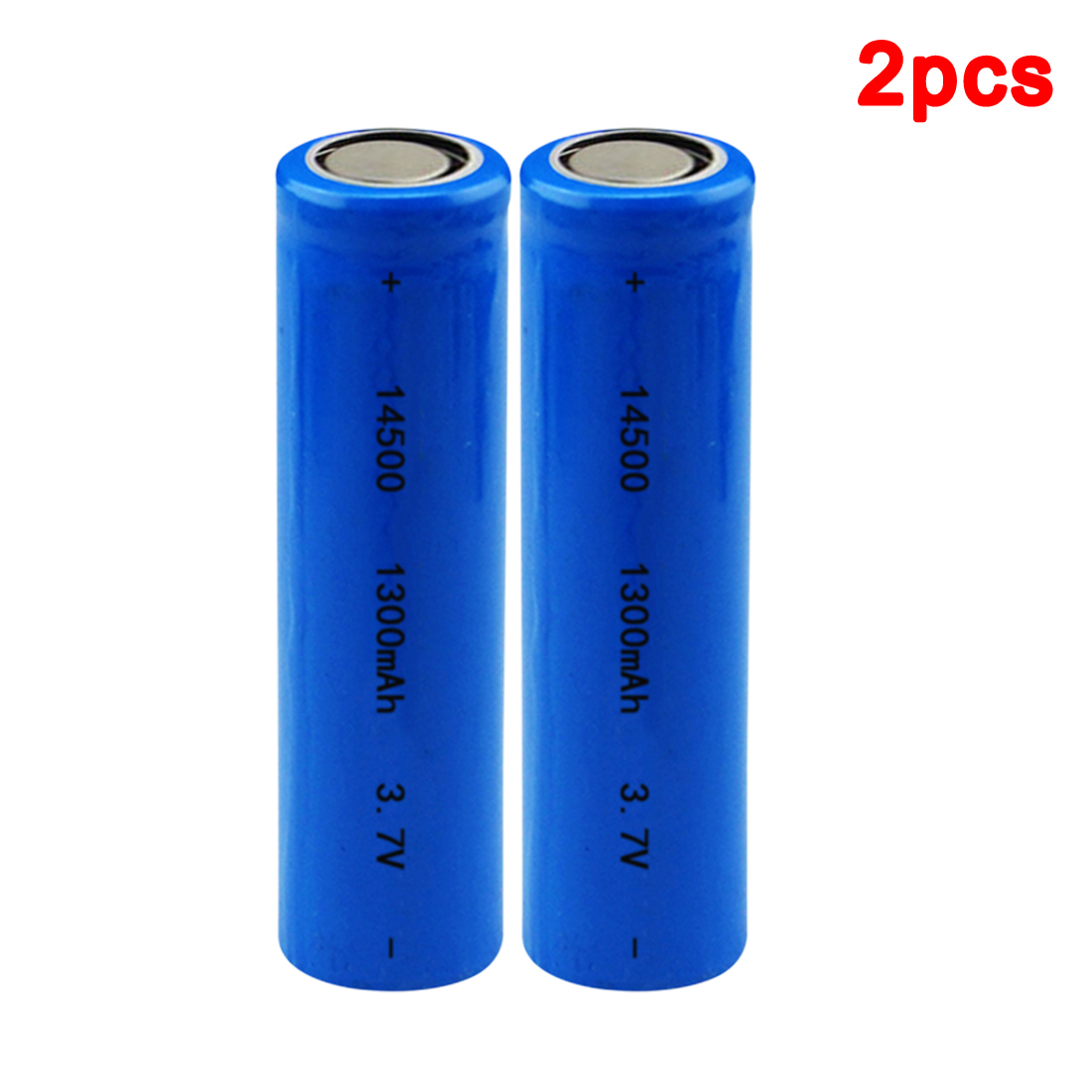 centechia Top Sale 2 pcs High Capacitance <font><b>14500</b></font> Battery 3.7V 1300mAh Rechargeable Battery for Led Flashlight Batery Battery est image