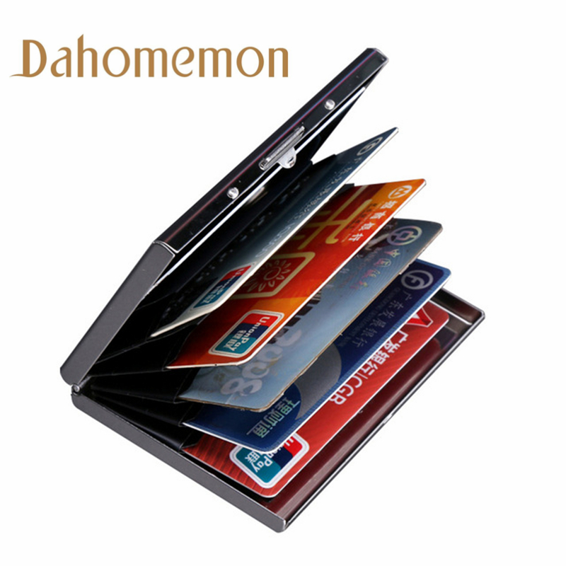 Desk Accessories & Organizer 100pcs New Business Card Holders Men Ladies Anti-magnetic Bank Cards Packs Storage Box Sets Office Supplies Wholesale High Safety