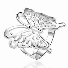 Anillo de Plata de la mariposa Casual Punk Anillos para Las Mujeres Bijoux Bague Femme Anéis Anillos Mujer Mariposa Anello Donna Ringen Anel de Prata