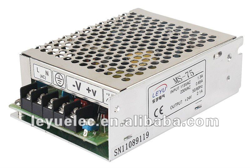 LED driver MS-75-12 2 years warranty CE RoHS CCC ac dc single output small size switching power supply three output meanwell switching power supply new original rpt 75 c 3 years warranty