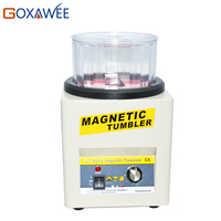 GOXAWEE KT 185 Magnetic Tumbler 16cm with 600g Capacity Tumbler Jewelry Polisher Super Finishing Magnetic Polishing Machine