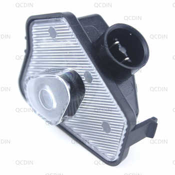 QCDIN for MB LED Car Side Tow Mirror Puddle Logo Light Rearview Mirror Projector Lamp for MB Multi-series Model