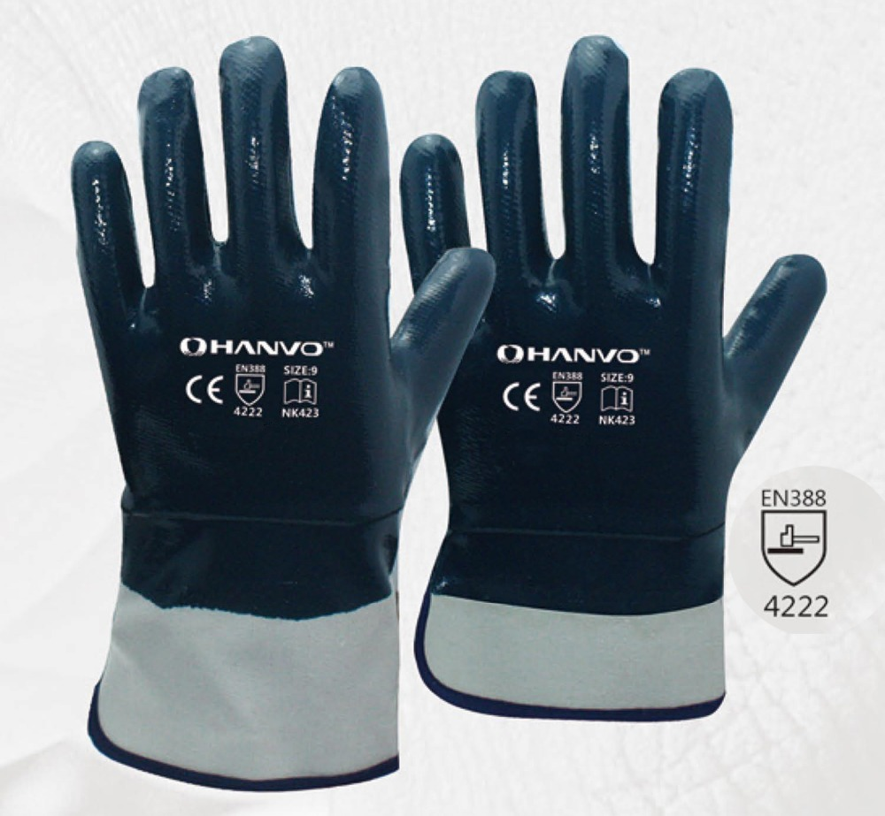 Oil and Gas Safety Glove Heavy Duty Cotton Jersey With Nitrile Coated Work Gloves evans b14hdd 14 genera heavy duty dry coated