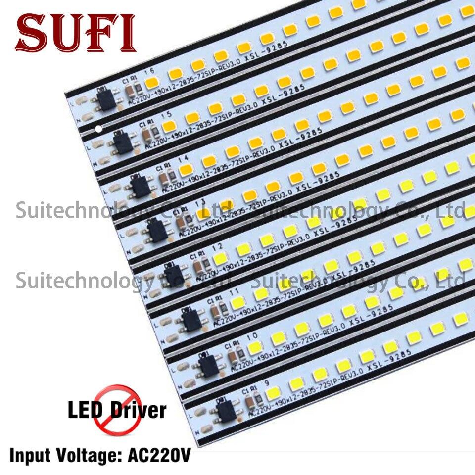 10pcs LED Bar Light AC220V Aluminum alloy PCB LED Tube 30cm High lumen Energy Saving LED for lighting project don't need driver
