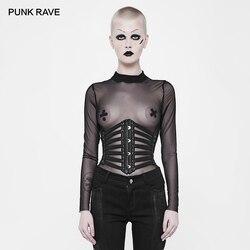 PUNK RAVE frauen Punk Rock Leder Gürtel Cosplay Schnürung Steampunk Sexy Bund Gürtel Gothic Visuelle Kei Zubehör