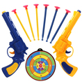 1 Unidades Pistolas Pistola Policía Pistola de Juguete Pistola de Bala Suave 2 Cañones de 6 Ventosas Suave Balas