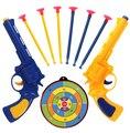 1 set Gun Pistols Soft Bullet Gun Toy Gun Police Set 2 Guns 6 Soft Suckers Bullets