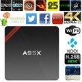 Max 2 gb ram + 16 gb rom nexbox a95x inteligente android 6.0 tv box amlogic S905X Quad core KODI 64Bit 4 K x 2 K WiFi Media Player Set Top Box