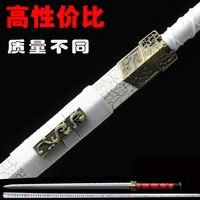Handmade Japanese Samurai Katana Sword High Carbon Steel Full Tang Blade Sharp Custom Real Espadas Katanas Not Cutting Edge