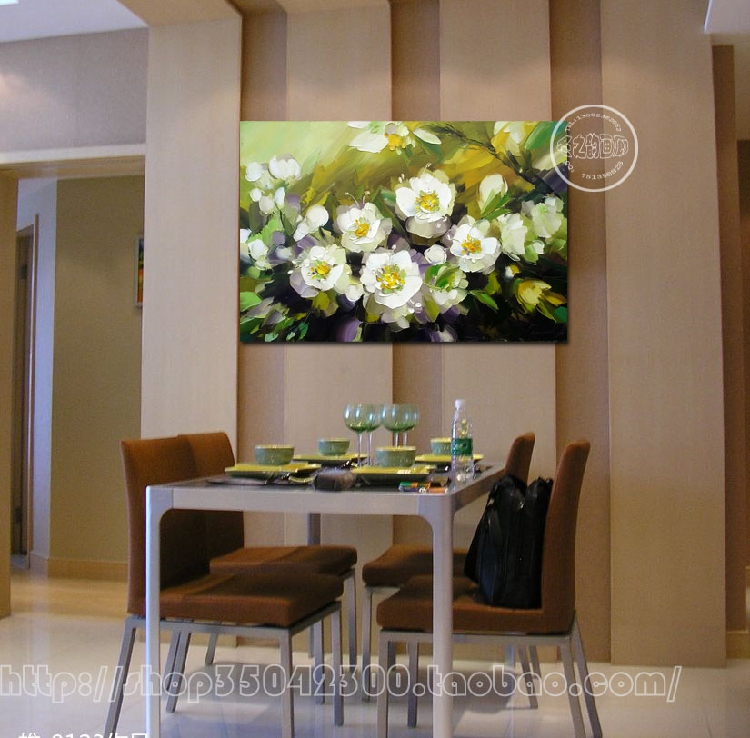 Hand painting flowers stylish frameless painting decorative painting minimalist style electrical box font b knife b