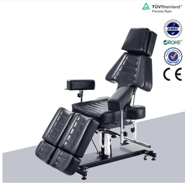 Multi-function beauty bed Tattoo chair Black tattoo chair folding Tattoo bed