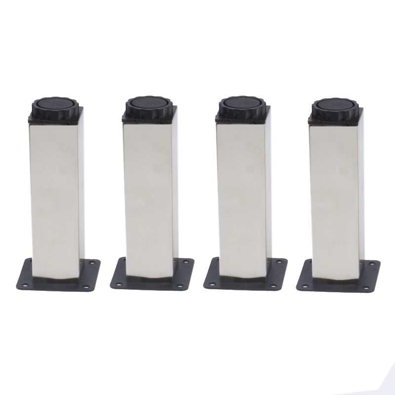 Furniture Adjustable Cabinet Sofa Bed Square Leg Feet 38mmx100mm 4 Pcs