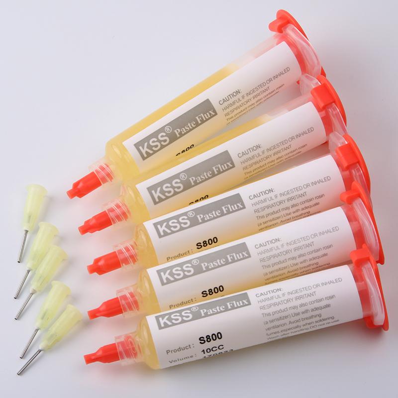 6 KSS S800 Solder paste Flux soldering paste Solder paste Flux for soldering fluxo de soldagem smd bga Dispensing needle Flux