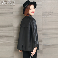 Genuine Leather Jacket Woman Spring 2019 Streetwear Trench Coats and Jackets Women Genuine Sheepskin Coat Chaqueta Mujer FXH008A